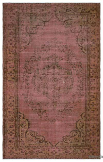 "Over-dyed Turkish Vintage Rug - 5' 8"" x 9' 1"" (68 in. x 109 in.)"