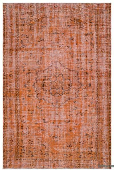 Alfombra Turca Vintage Sobre-teñida - 183 cm x 276 cm