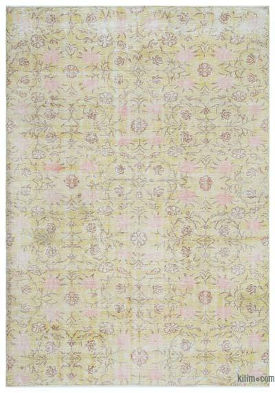 """Over-dyed Turkish Vintage Rug - 6'9"""" x 9'8"""" (81 in. x 116 in.)"""