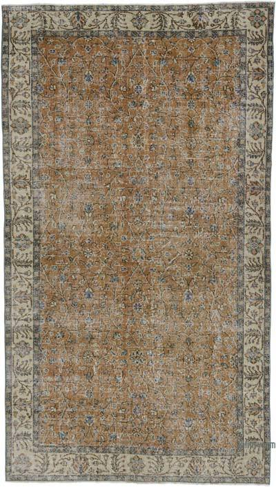 """Turkish Vintage Area Rug - 4'9"""" x 8'7"""" (57 in. x 103 in.)"""