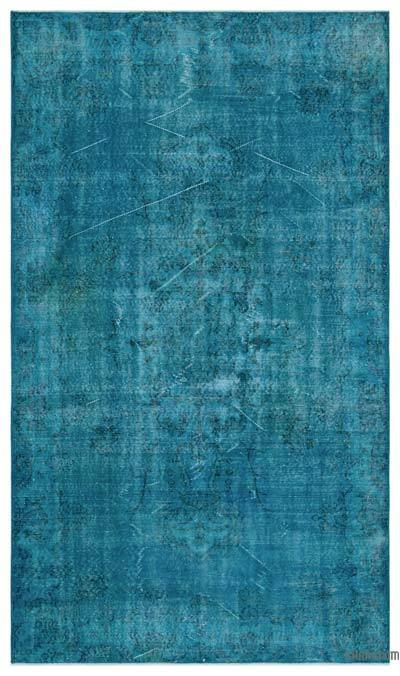 """Over-dyed Turkish Vintage Rug - 5'5"""" x 9'3"""" (65 in. x 111 in.)"""