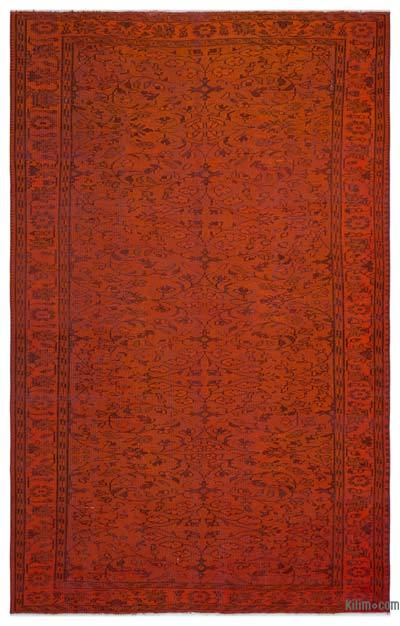 Alfombra Turca Vintage Sobre-teñida - 173 cm x 277 cm