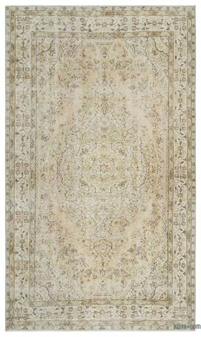 "Over-dyed Turkish Vintage Rug - 5' 4"" x 9' 1"" (64 in. x 109 in.)"