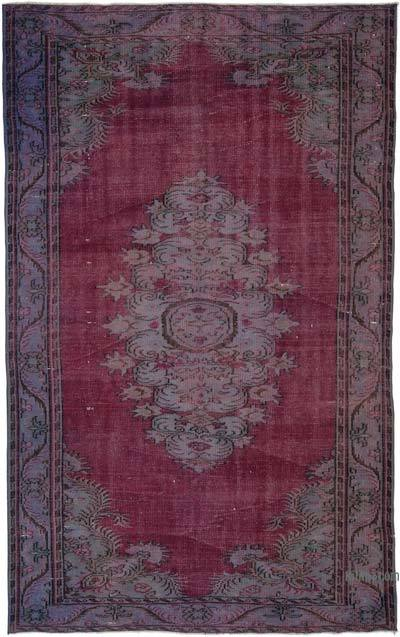 """Over-dyed Turkish Vintage Rug - 6' 3"""" x 9' 10"""" (75 in. x 118 in.)"""
