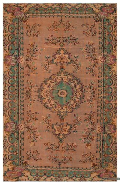 """Vintage Turkish Hand-Knotted Rug - 6'  x 9' 4"""" (72 in. x 112 in.)"""