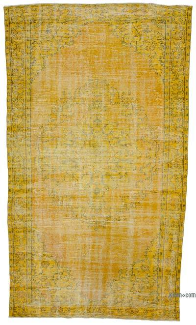 """Over-dyed Turkish Vintage Rug - 5' 7"""" x 10' 1"""" (67 in. x 121 in.)"""