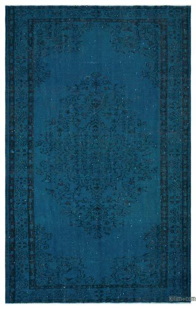 """Over-dyed Turkish Vintage Rug - 5'7"""" x 8'8"""" (67 in. x 104 in.)"""