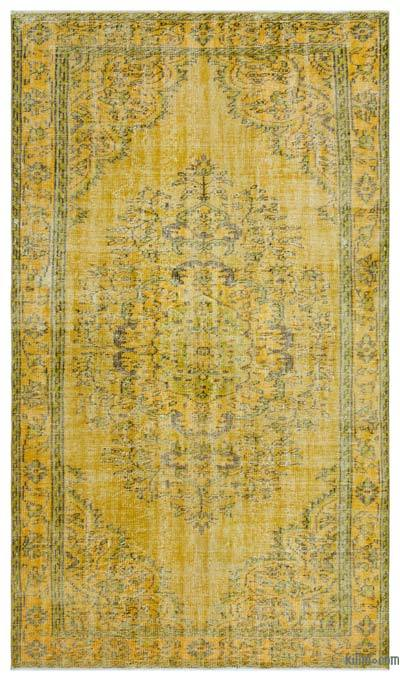 """Over-dyed Turkish Vintage Rug - 5'3"""" x 9' (63 in. x 108 in.)"""