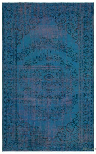 Boyalı El Dokuma Vintage Halı - 178 cm x 288 cm