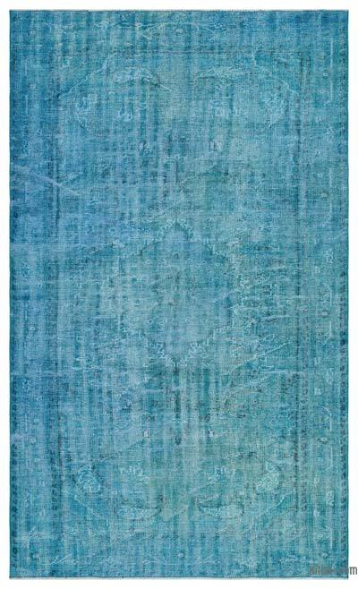 "Over-dyed Turkish Vintage Rug - 5' 4"" x 8' 11"" (64 in. x 107 in.)"