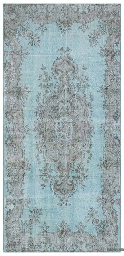 "Over-dyed Turkish Vintage Rug - 3'8"" x 7'9"" (44 in. x 93 in.)"