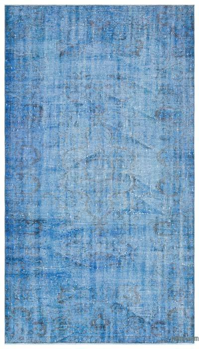 """Over-dyed Turkish Vintage Rug - 4'4"""" x 7'7"""" (52 in. x 91 in.)"""
