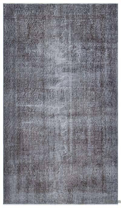 Boyalı El Dokuma Vintage Halı - 119 cm x 200 cm