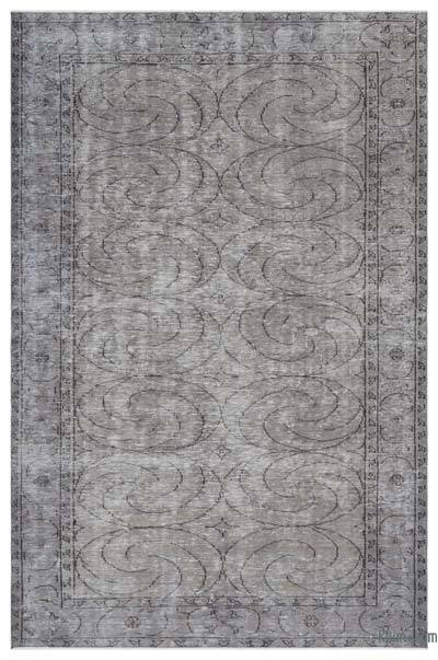 """Over-dyed Turkish Vintage Rug - 5'10"""" x 8'11"""" (70 in. x 107 in.)"""