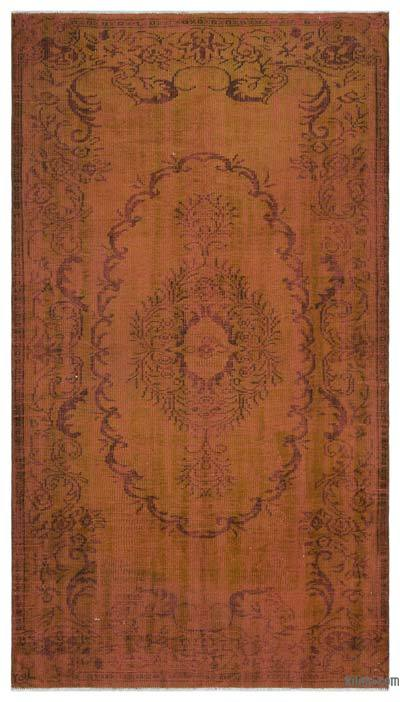 "Over-dyed Turkish Vintage Rug - 5' 2"" x 9' 3"" (62 in. x 111 in.)"