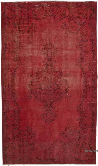 "Over-dyed Turkish Vintage Rug - 5' 1"" x 8' 9"" (61 in. x 105 in.)"