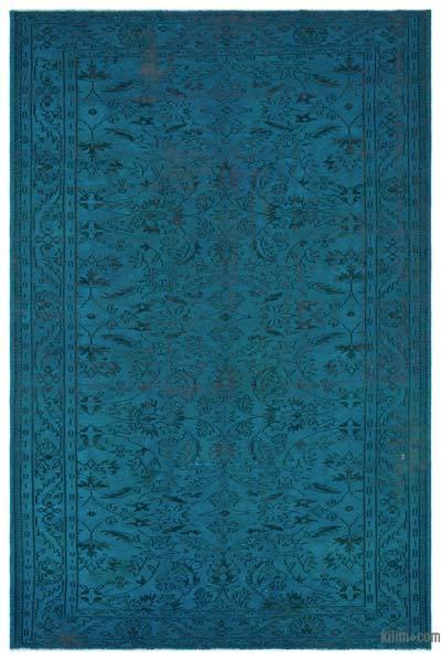 Boyalı El Dokuma Vintage Halı - 204 cm x 306 cm