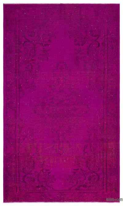 "Over-dyed Turkish Vintage Rug - 5' 9"" x 9' 3"" (69 in. x 111 in.)"