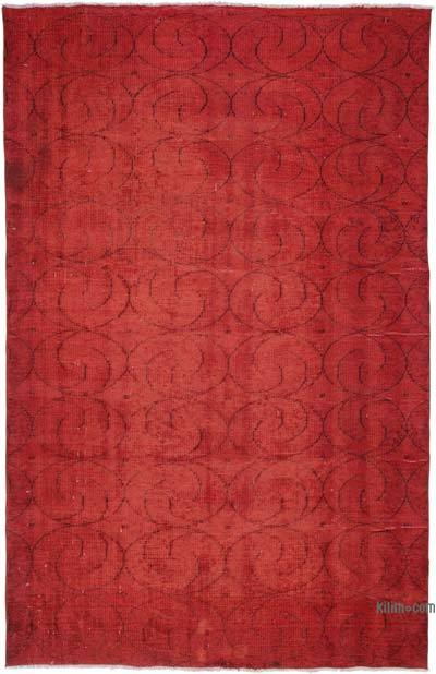 "Over-dyed Turkish Vintage Rug - 6'1"" x 9'6"" (73 in. x 114 in.)"