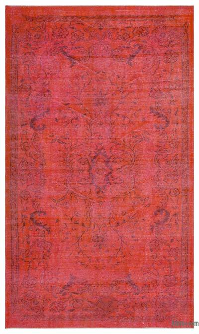 "Over-dyed Turkish Vintage Rug - 5' 7"" x 9' 4"" (67 in. x 112 in.)"
