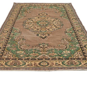 """Vintage Turkish Hand-Knotted Rug - 6' 2"""" x 9' 10"""" (74 in. x 118 in.) - K0035185"""