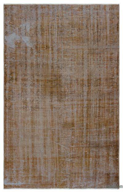 Alfombra Turca Vintage Sobre-teñida - 152 cm x 235 cm