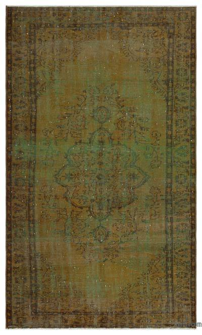 "Over-dyed Turkish Vintage Rug - 5' 4"" x 8' 9"" (64 in. x 105 in.)"