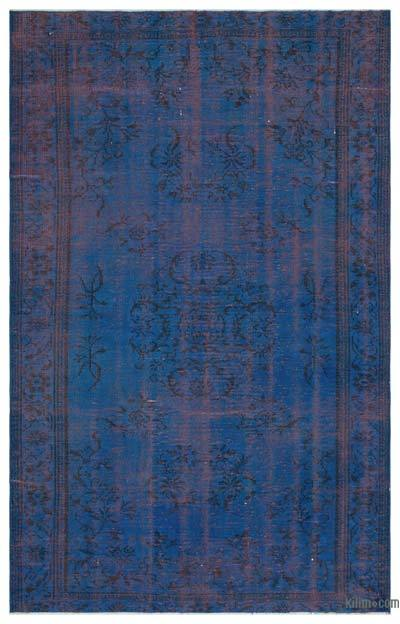 """Over-dyed Turkish Vintage Rug - 5' 3"""" x 8' 5"""" (63 in. x 101 in.)"""