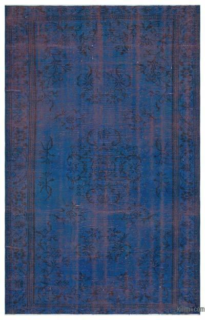 Boyalı El Dokuma Vintage Halı - 160 cm x 256 cm