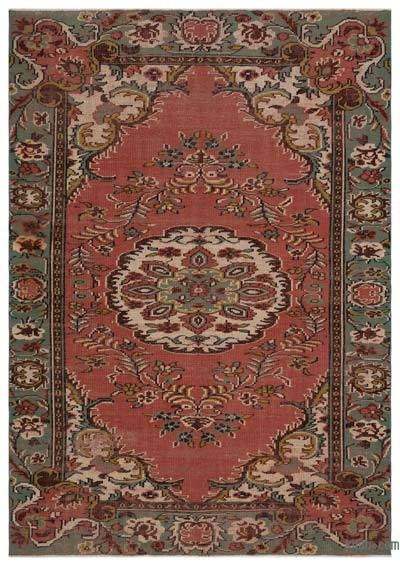"Turkish Vintage Area Rug - 5'10"" x 8'4"" (70 in. x 100 in.)"