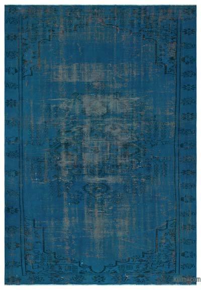 Boyalı El Dokuma Vintage Halı - 182 cm x 249 cm