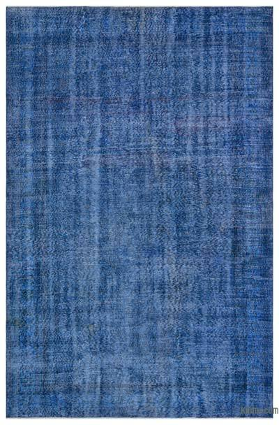 """Over-dyed Turkish Vintage Rug - 6' 7"""" x 10'  (79 in. x 120 in.)"""