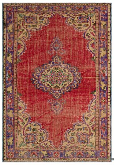 "Turkish Vintage Area Rug - 6'5"" x 9'3"" (77 in. x 111 in.)"