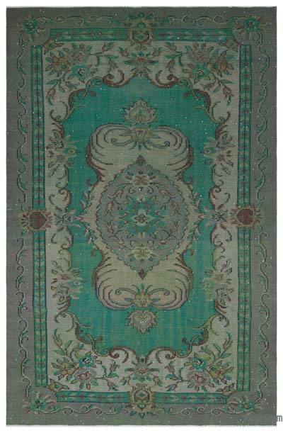"""Vintage Turkish Hand-Knotted Rug - 5' 7"""" x 8' 10"""" (67 in. x 106 in.)"""