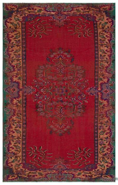 """Turkish Vintage Area Rug - 5'7"""" x 9' (67 in. x 108 in.)"""