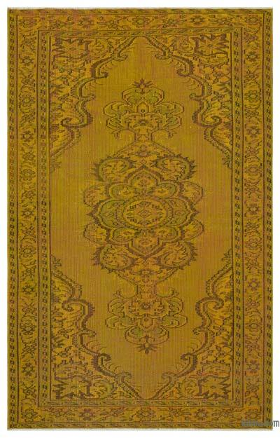 "Over-dyed Turkish Vintage Rug - 4' 9"" x 7' 8"" (57 in. x 92 in.)"