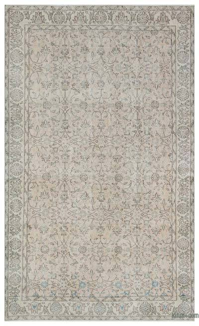 """Over-dyed Turkish Vintage Rug - 5'5"""" x 9' (65 in. x 108 in.)"""