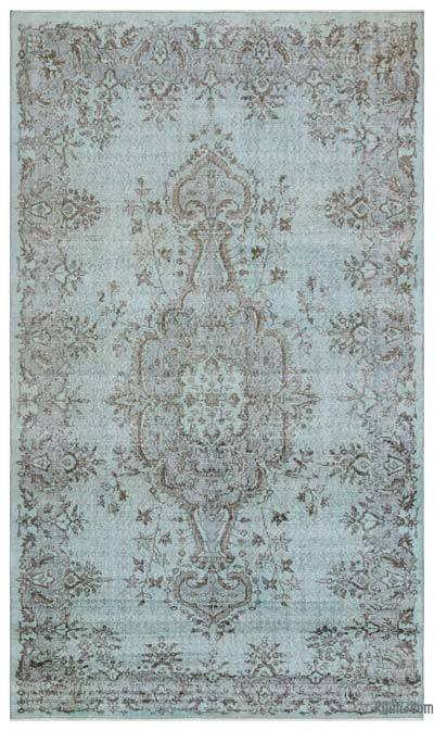 "Over-dyed Turkish Vintage Rug - 5' 5"" x 9' 2"" (65 in. x 110 in.)"