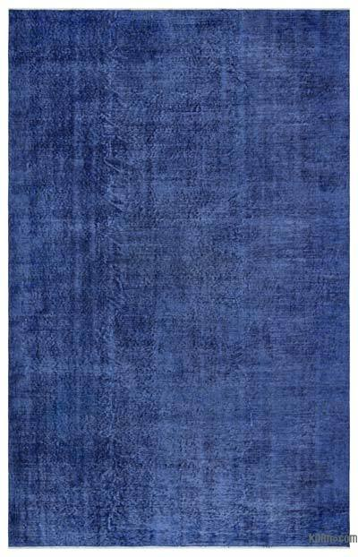 """Over-dyed Turkish Vintage Rug - 5' 6"""" x 8' 8"""" (66 in. x 104 in.)"""