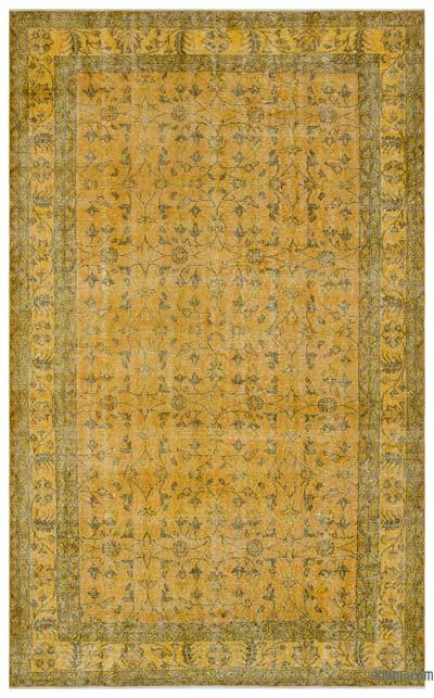 "Over-dyed Turkish Vintage Rug - 5' 11"" x 9' 9"" (71 in. x 117 in.)"