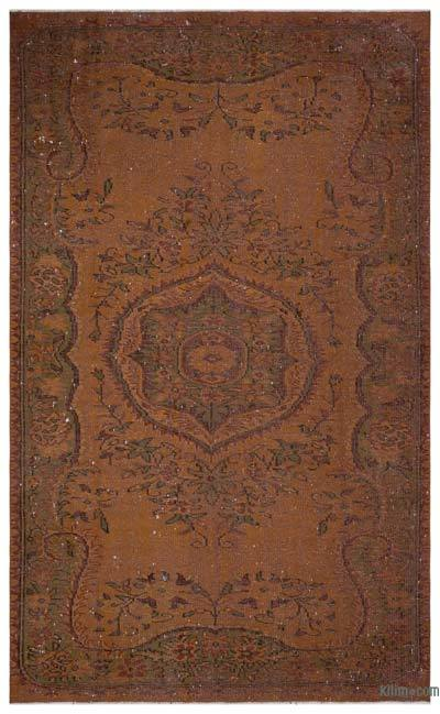 """Over-dyed Turkish Vintage Rug - 6'  x 9' 9"""" (72 in. x 117 in.)"""
