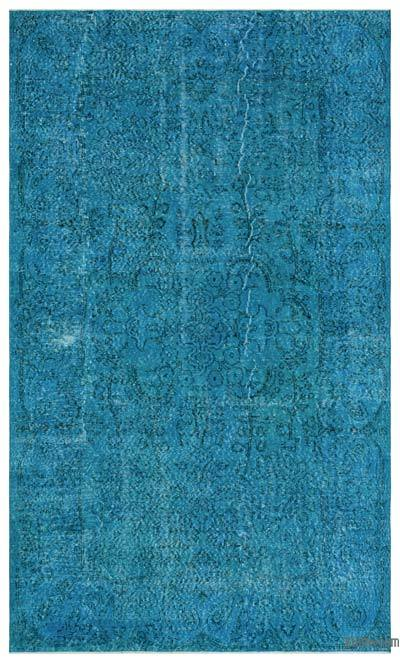 """Over-dyed Turkish Vintage Rug - 5' 7"""" x 9' 5"""" (67 in. x 113 in.)"""