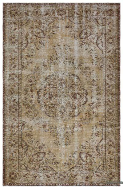 "Over-dyed Turkish Vintage Rug - 6'2"" x 9'6"" (74 in. x 114 in.)"