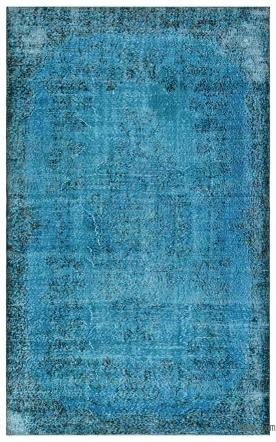 "Over-dyed Turkish Vintage Rug - 5' 9"" x 9' 4"" (69 in. x 112 in.)"