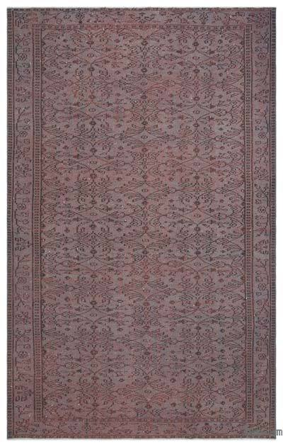 """Over-dyed Turkish Vintage Rug - 5' 4"""" x 8' 6"""" (64 in. x 102 in.)"""