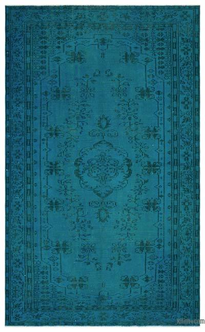 """Over-dyed Turkish Vintage Rug - 5' 3"""" x 8' 9"""" (63 in. x 105 in.)"""