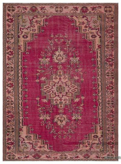 "Turkish Vintage Area Rug - 5' 11"" x 8'  (71 in. x 96 in.)"