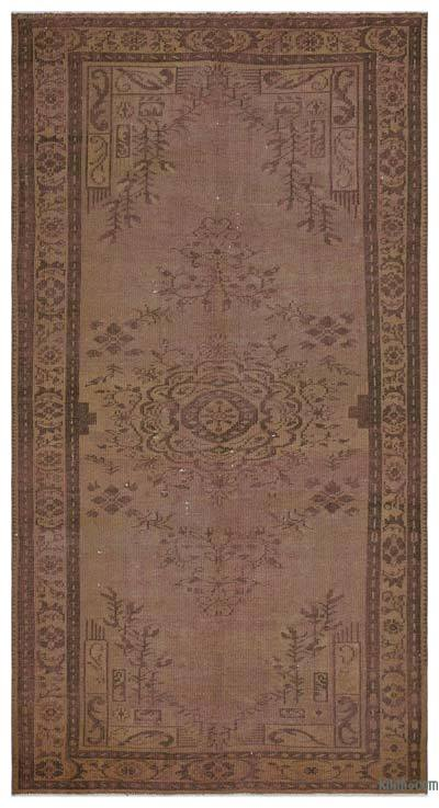 """Over-dyed Turkish Vintage Rug - 4' 11"""" x 9' 3"""" (59 in. x 111 in.)"""