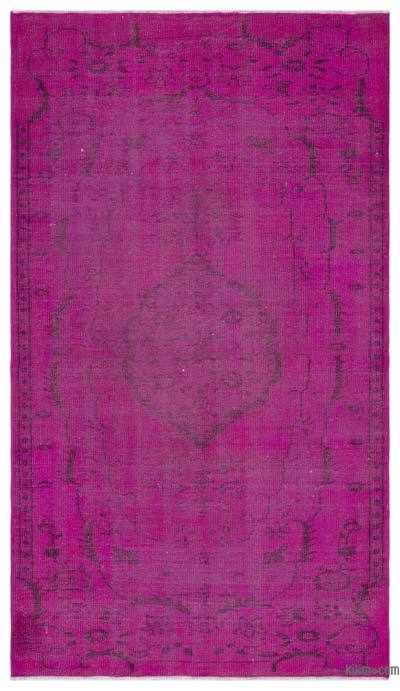 """Over-dyed Turkish Vintage Rug - 4' 9"""" x 8' 7"""" (57 in. x 103 in.)"""