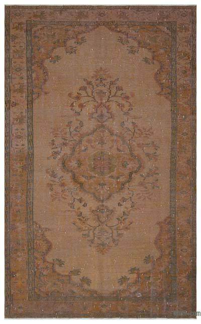 """Over-dyed Turkish Vintage Rug - 5' 9"""" x 9' 7"""" (69 in. x 115 in.)"""